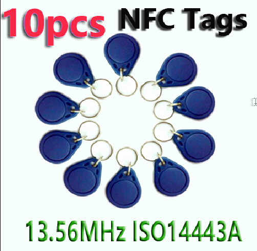 10pcs NFC Tag Key Tags Keyfobs RFID Tag 13.56MHz S50 Token Re-writable NFC Card 100pcs rfid tag 13 56mhz mif1 s50 key fobs re writable nfc tag for access control system