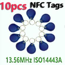 10pcs NFC Tag Key Tags Keyfobs RFID Tag 13.56MHz S50 Token Re-writable NFC Card