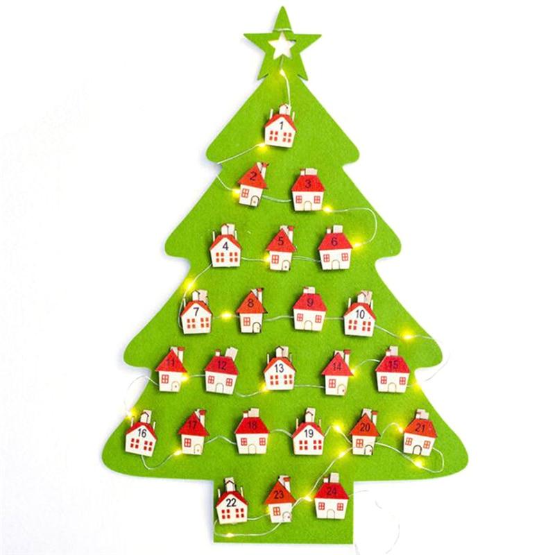 Felt Christmas Tree Advent Calendar: Date 1 31 Felt Advent Calendar New Year Decoration