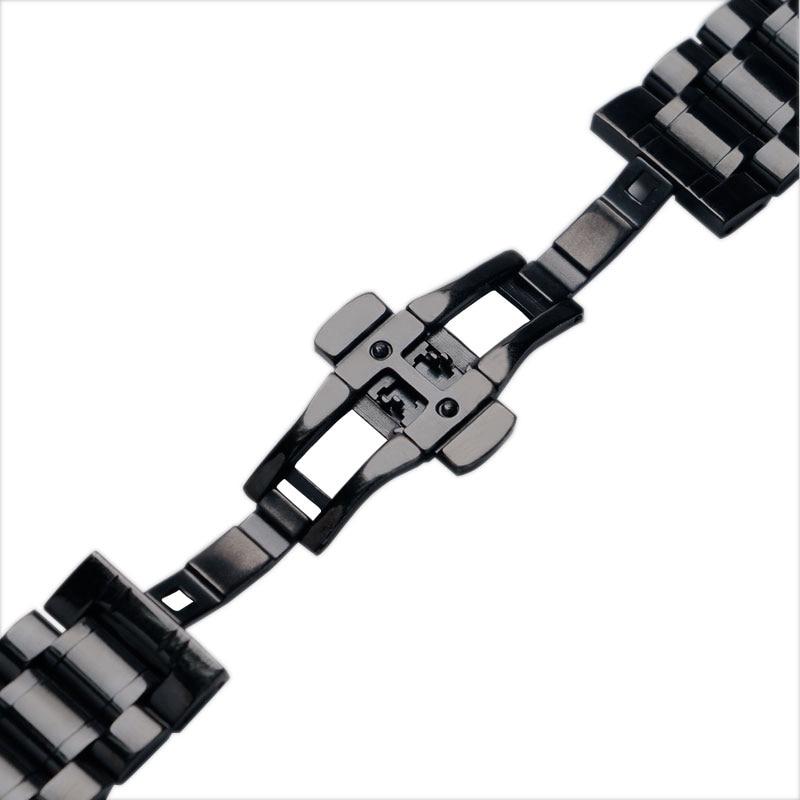 Correas de reloj de 24 mm Correa de reloj de acero inoxidable negro - Accesorios para relojes - foto 2