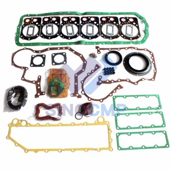 6D24 6D24T Engine Gasket Kit For Hyundai Kobelco SK400-3 Excavator Kato MG530 Crane and Truck