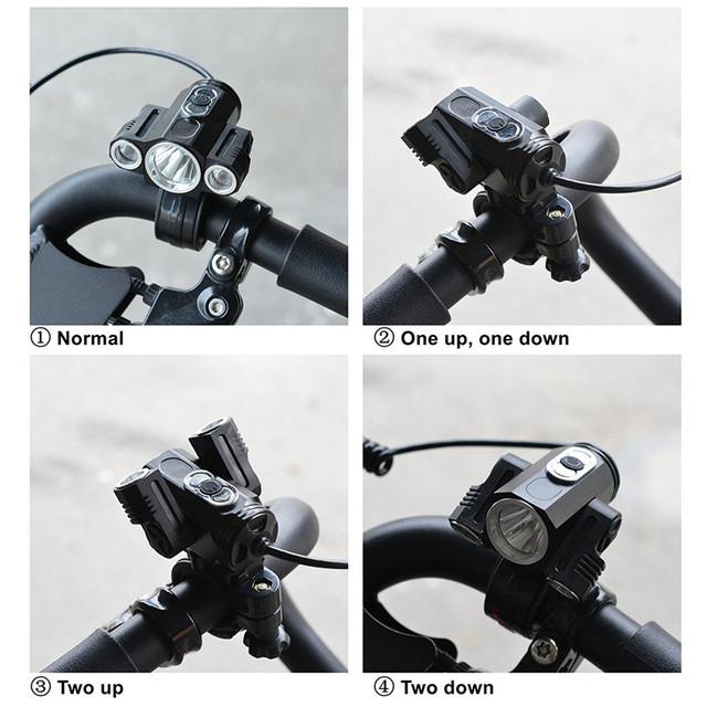 ZPAA LED Headlamp T6 LED Head Torch Flashlight 13000 Lumens LED Head Lamp 180 degree Rotating dual Bike Light Headlight Lamps