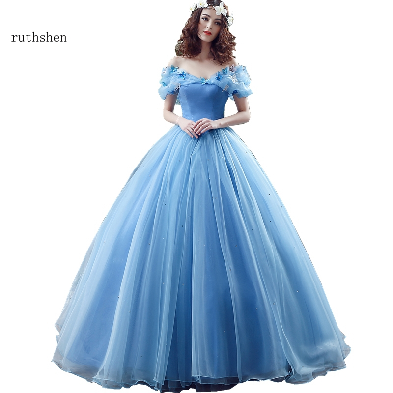 Fairy Vestidos De Dulces 16 Quinceanera Dresses Light Blue Off Shoulder With Butterfly Organza Sweet 15