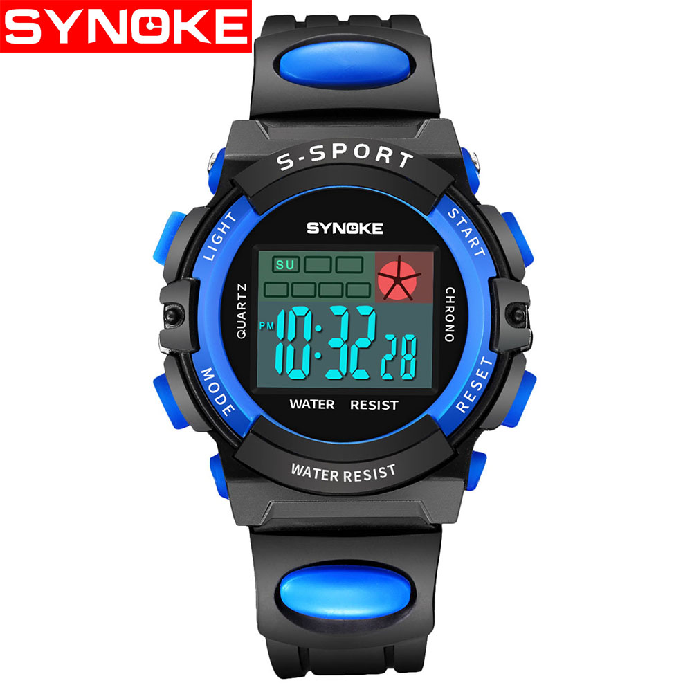 Synoke Fashion Children Watches Kid Boy Digital Led Quartz Alarm Date Sports Wrist Watch Relogio Masculino For Boys Girls Gift Discounts Sale Watches