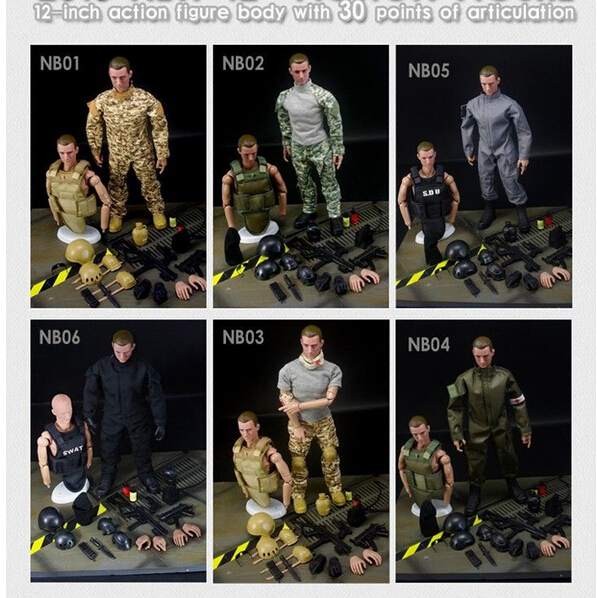 1/6 Action Figure Military SWAT Soldier Uniform Military Toy Soldiers Set Military Figurines With Box Hot Model Toys