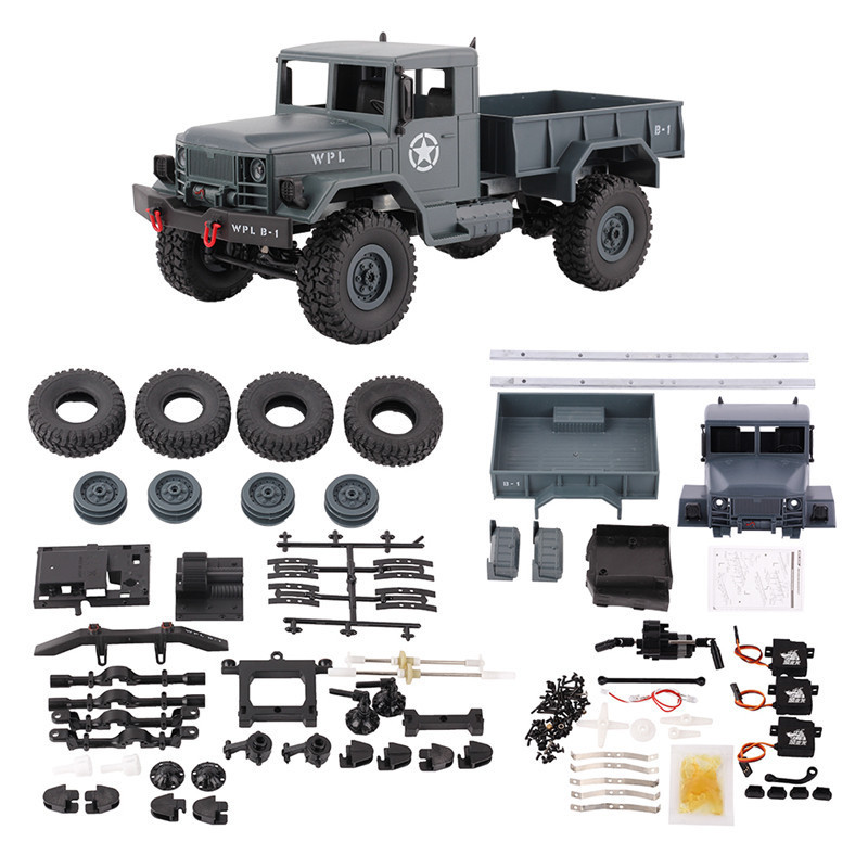 WPL B 14K 1:16 Car KIT Remote Control Car 2.4G RC Military Truck 4WD Off road Car Accessories DIY Toy For Kids-in RC Cars from Toys & Hobbies    1