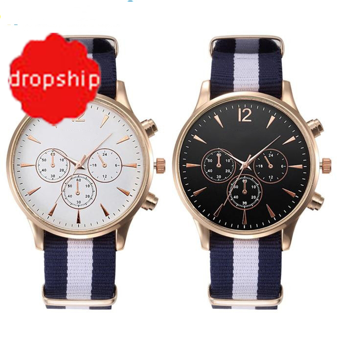 Splendid Luxury Fashion Band Canvas Mens Analog Wrist Watches Men Masculino Reloje colorful hd screen cf006 smart watch bluetooth smartwatch touch screen smart watches for android phone ip67 gps heart rate