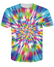 Warp Speed T-Shirt Psychedelia Colorful Trippy T Shirt Women Men 3D Printed Summer T-Shirt Hip Hop Tops Tees Outwear 5XL R2883
