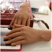 цена на New Lifelike Realistic Silicone Mannequin Hand Model Hand Display for Glove realistic silicone Jewelry Visualizers