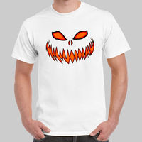Pumpkin Head Jack O Lantern Scary Halloween Black Or Navy T Shirt USA Size Cool T