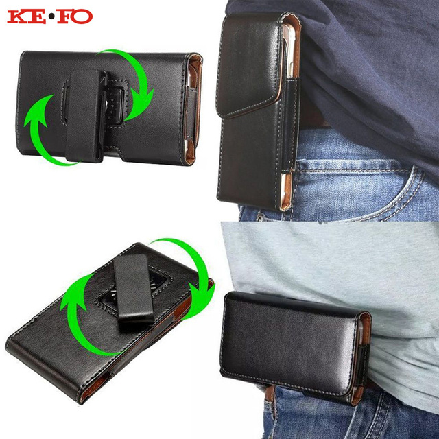 100% authentic a55be 50e82 KEFO For Iphone Xs Max Case Belt Clip Holster Leather Phone Pouch Bag Case  For Iphone XR X 10 5S SE 6S 7 8 Plus Universal Cover