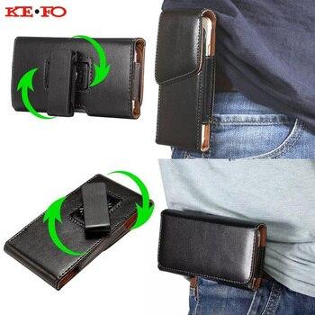 117799c0042 KEFO para Iphone Xs Max funda con Clip de cinturón Funda de cuero para  teléfono funda