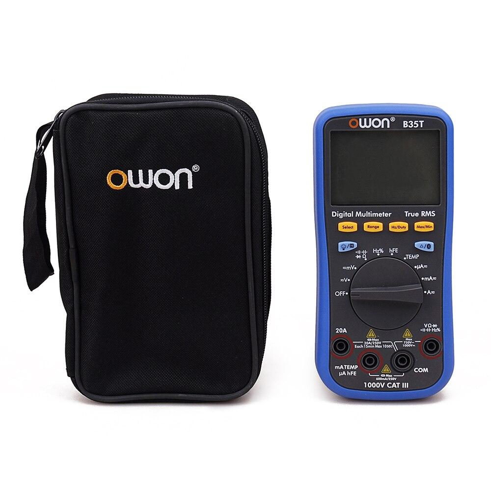 OWON B35T 3 5/6 цифровой мультиметр с Bluetooth True RMS Многофункциональный измеритель