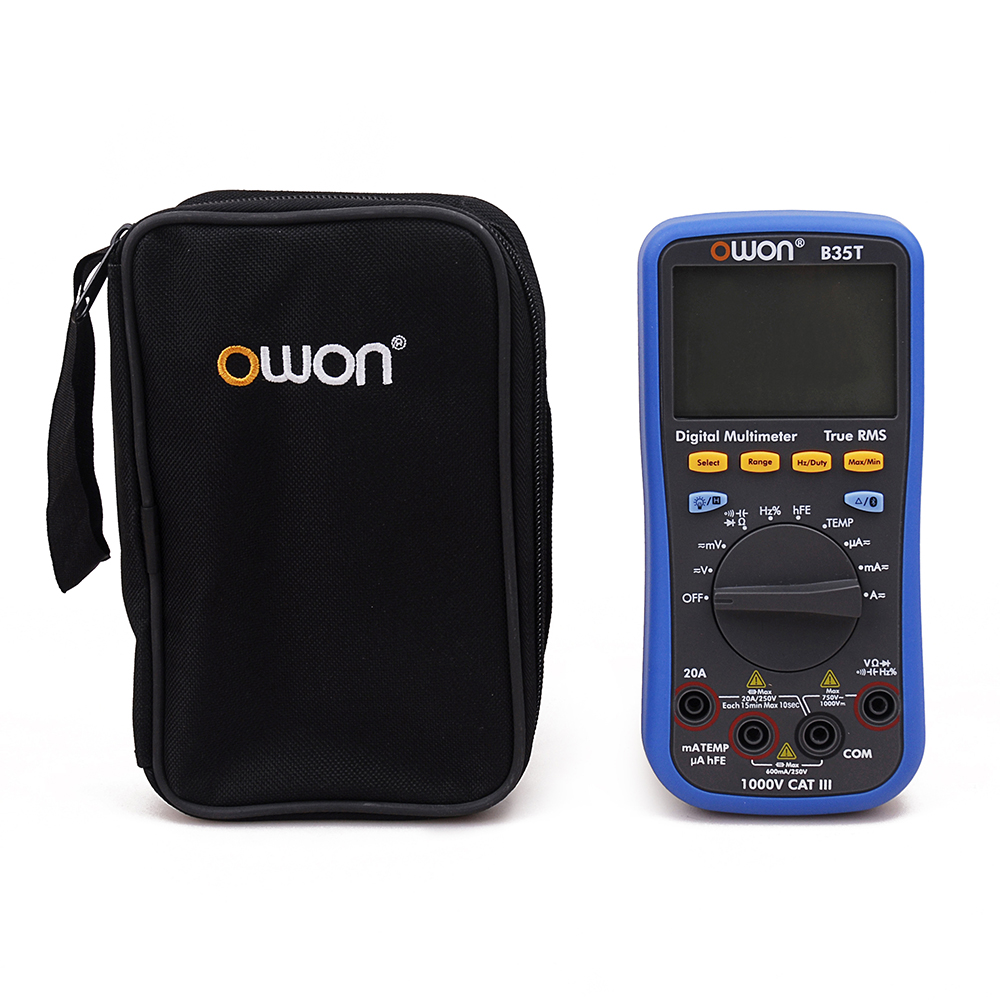 OWON B35T 3 5/6 Digital Multimeter with Bluetooth True RMS Multifunction Meter owon b35t 3 in 1 datalogger true rms multimeter temperature tester recording bluetooth 4 0 android