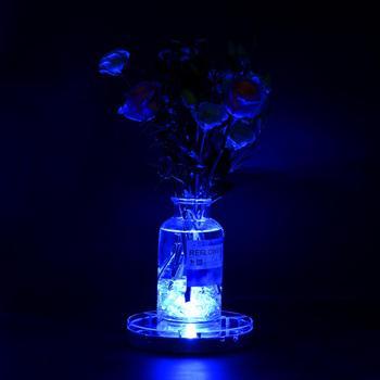 Akumulator Bateria Litowa Eksploatowane RGBW 8 Cal Spot LED Centralny Podświetlana Podstawa świeczniki Oświetlenie Dekoracyjne
