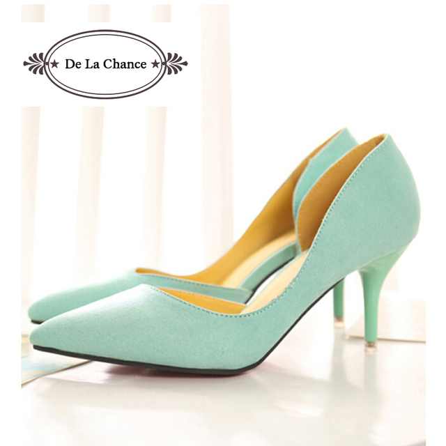 a27f62cc705f13 2016 New Arrival White Mint Green Wedding Shoes Stiletto Red Bottom Pointed  Toe Women Pumps For Women Prom High Heel Shoes
