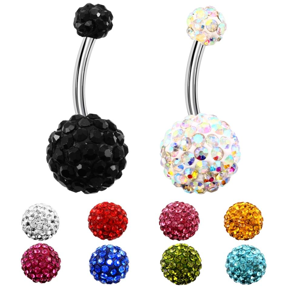 1PC Surgical Steel Piercings Ombligo 14G Bling Navel Piercings Belly Button Piercings Dangle Earring Belly Piercing Body Jewelry