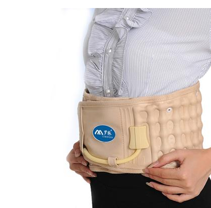 Body Relaxation Massager Back Belt Spinal Air Traction Physio Decompression Back Brace Back Pain Lower Lumbar Support double pull lumbar support lower back belt brace band waist four aluminium strips protection back waist support belt yw 01m27