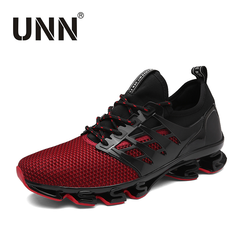 UNN Man Casual Shoes 2018 Breathable Blade Shoes Cushioning Original Sneakers Red Green Size 39-44 Mesh Shoes Men