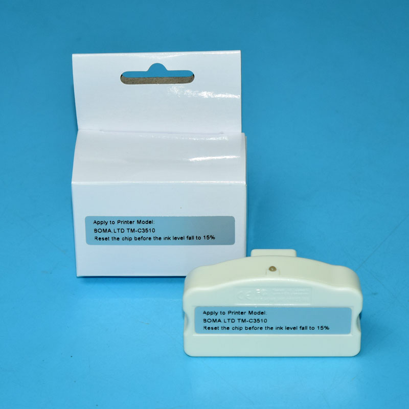 Chip Resetter for Epson TM C3500 TM C3510 TM C3520 Color Label Printer for Epson GJiC22P