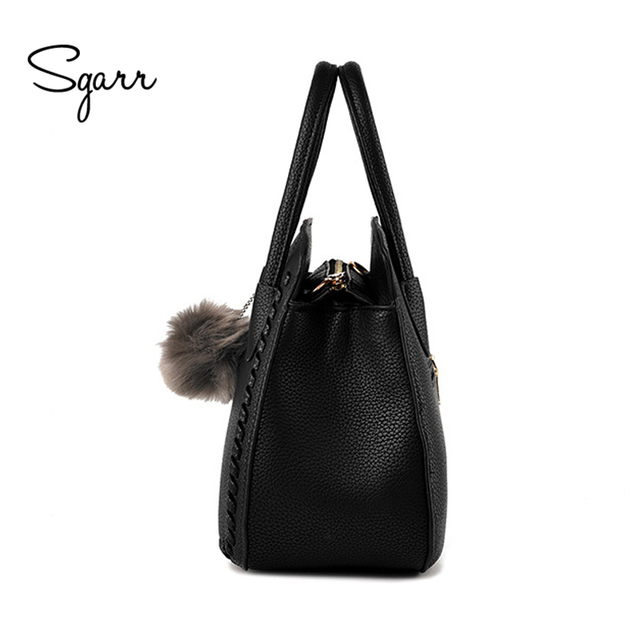 SGARR Brand Women Handbags Luxury Designer Shoulder Bag Female PU Leather Handbag Women Black Bucket Bags Ladies Messenger Bags