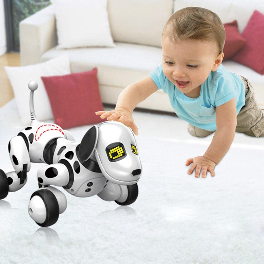 Intelligente RC Robot Chien jouet Électronique Animaux Chien Enfants Pedagogique Jouet Mignon Animaux RC Robot Intelligent cadeau Pour enfants