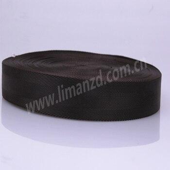 38mm coffee color herringbone nylon webbing ribbon for safety belt/men belt 2 mm thickness