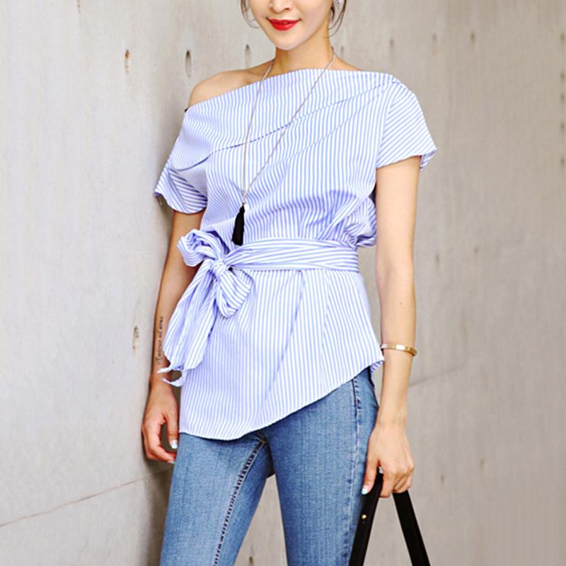 HTB1zWhOSFXXXXbbapXXq6xXFXXXA - Summer office blouses Off Shoulder Women slash neck
