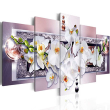 "Zhui Star 5D DIY Full Square Diamond Painting ""orchid flower"" Multi picture Combination Embroidery Cross Stitch Mosaic Decor"