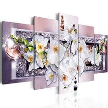 """Zhui Ster 5D Diy Volledige Vierkante Diamanten Schilderij """"Orchidee"""" Multi Picture Combinatie Borduurwerk Kruissteek Mozaïek decor"""