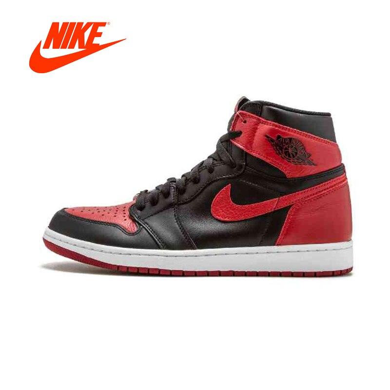 Original Nouvelle Arrivée Authentique Nike Air Jordan 1 Retro Haute OG AJ1 hommes Chaussures De Basket-Ball De Bonne Qualité 555088 -001