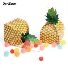 OurWarm 24pcs Tropical Luau Party Candy Box Pineapple Kids Birthday Theme Decoartion