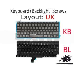 "Image 2 - New for Macbook Pro Retina 13"" A1502 UK English Keyboard with Backlight 2013 2014 2015 Year ME864 ME866 MGX72 MGX92 MF839 MF841"