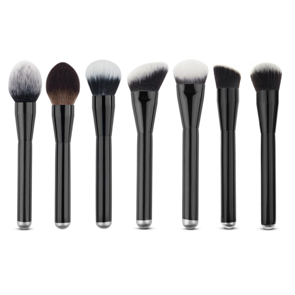7pcs Goat Hair Pro Big Makeup Brushes High Quality Kabuki Face Powder Concealer Contour Foundation Brush Make Up Beauty Tool guess by marciano куртка мужская