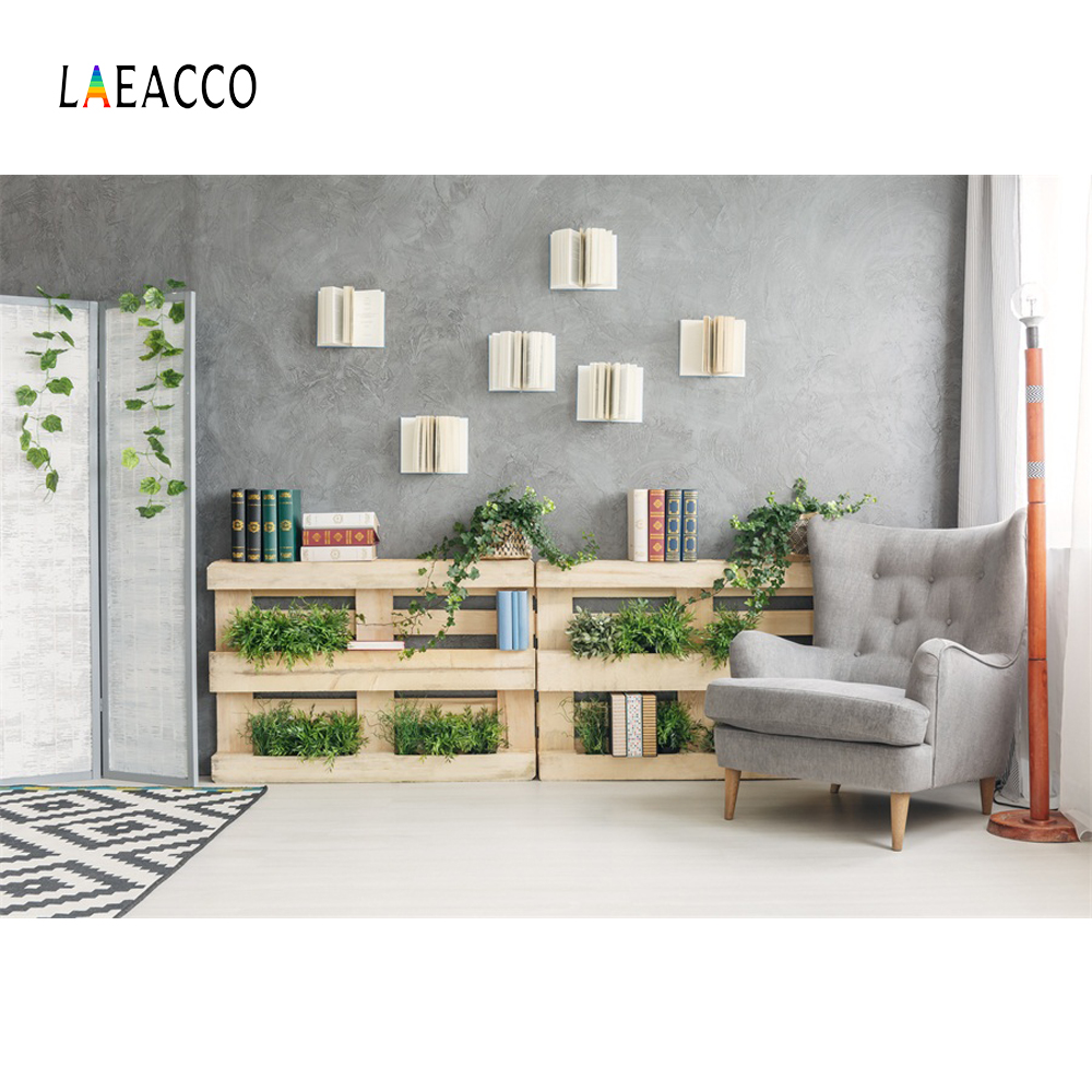 Laeacco Cosy Study Holzregal Buch Sofa Rebe Innen Fotografischen - Kamera und Foto