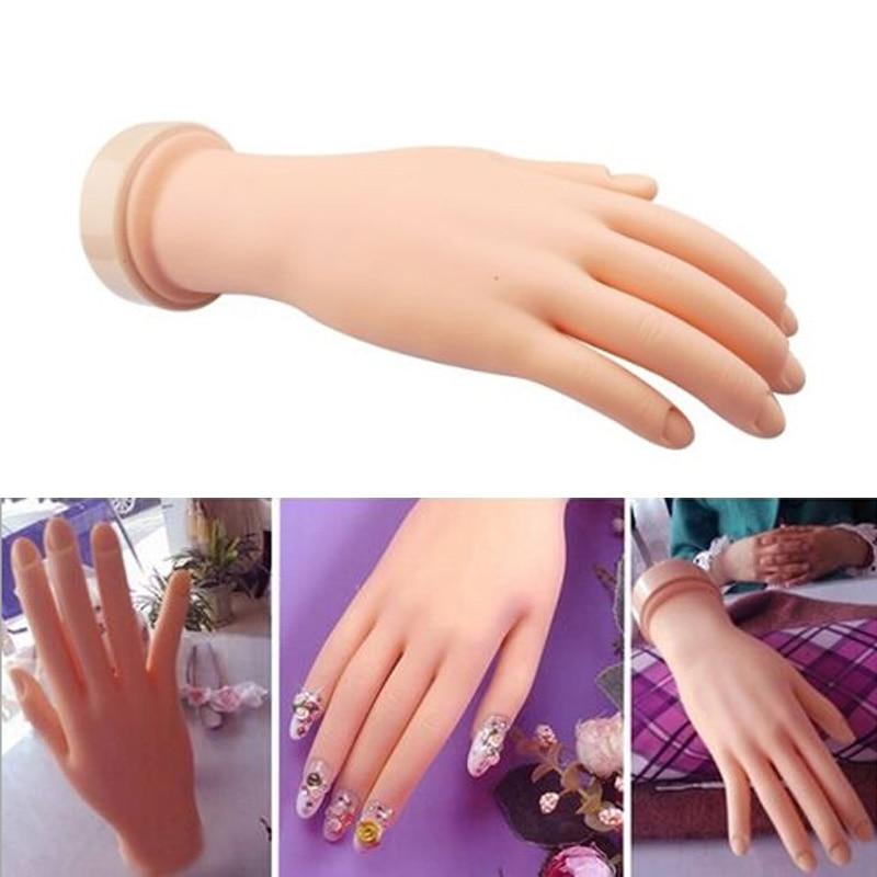 Professional Practice Nail Art Hand Soft Training Display Model ...