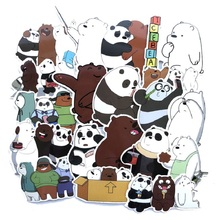 42PCS naked bear cute moving comics stickers luggage trolley case skateboard waterproof personality cartoon graffiti sticker