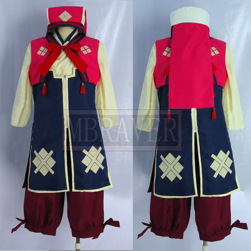 Monster Hunter 3rd Cosplay Nadesiko Uniform Costume Red Ver Custom made Any Size