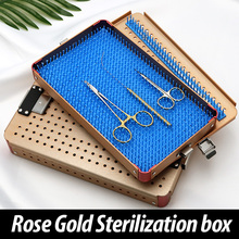 Imported silica gel sterilizing box aluminum alloy sterilizing box for micro ophthalmic surgery tools and instruments