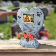 Giftgarden Memorial Tombstone for Pet Dog Cat Paw Print Keepsake Gravestone Tomb Can Put Photos все цены
