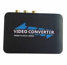 2016 New For DVD to HD TV HDTV Connection AV2HDMI Converter Adapter 1080P Composite AV S-Video to HDMI Converter Free Shipping