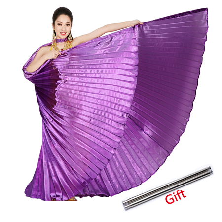 2020 Belly Dance Isis Wings Belly Dance Accessory Bollywood Oriental Egypt Egyptian Wings Costume With Sticks Adult Women Gold