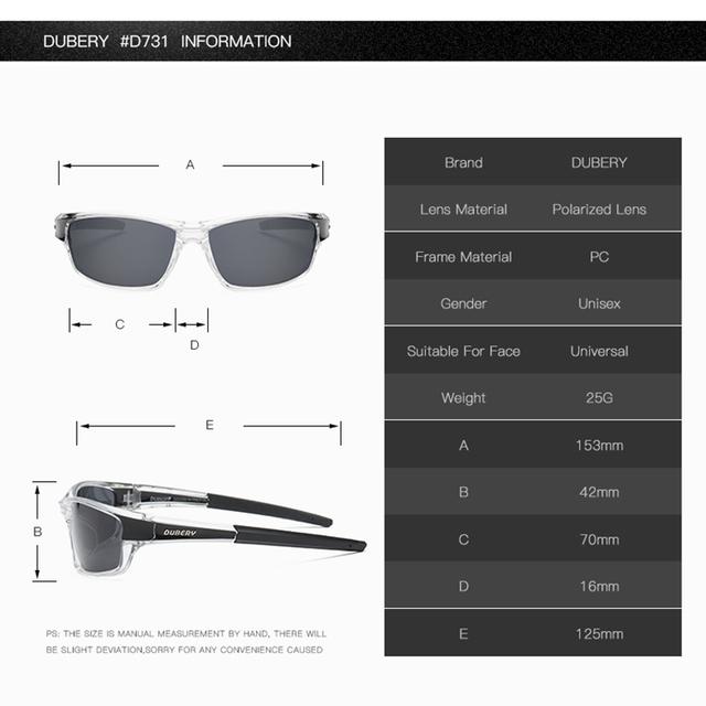 DUBERY Polarized Sunglasses Men Driver Shades Male Vintage Sun Glasses For Men Brand Design Spuare Mirror Summer UV400 Oculos