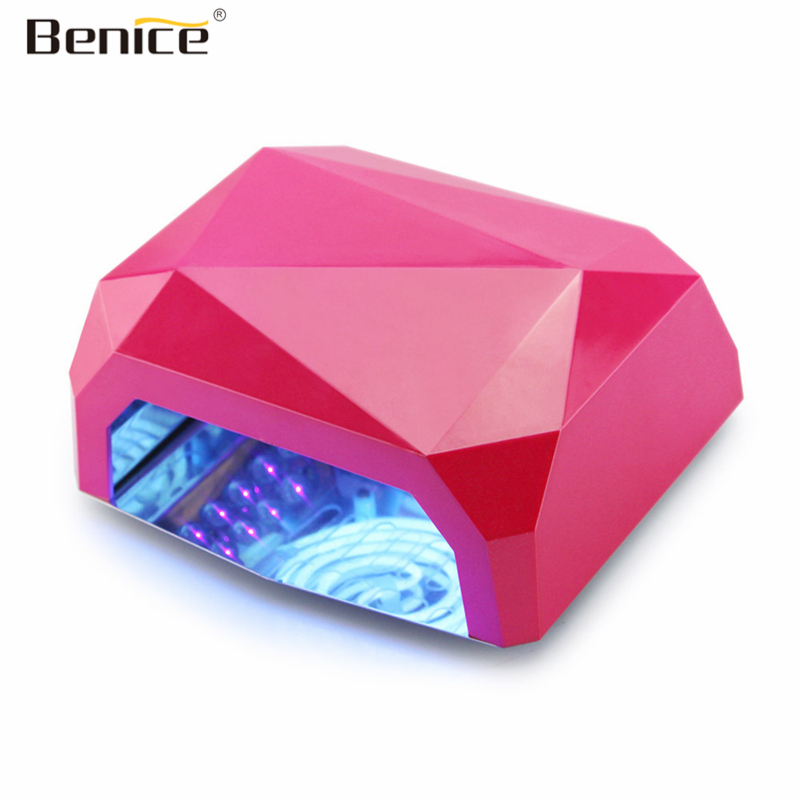 Benice UV Lamp LED Nail Lamp Nail Dryer Machine Diamond Shaped 36W LED CCFL Curing Nail Tools for UV Gel Nail Polish Art Tools auto sensor uv lamp 36w led lamp nail dryer gel nail lamp curing for light nail dryer polish nail tools diamond shaped