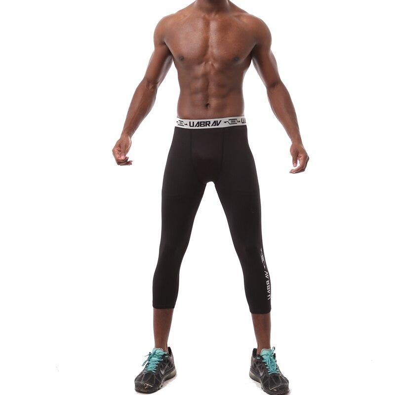 Men Leggings Sweatpants Capris Compression-Pants Cycling Basketball Running Tights Skinny