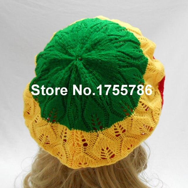 Online Shop 1pcs Tam Baret Hat Crochet Slouchy Dreadlocks Jamaica