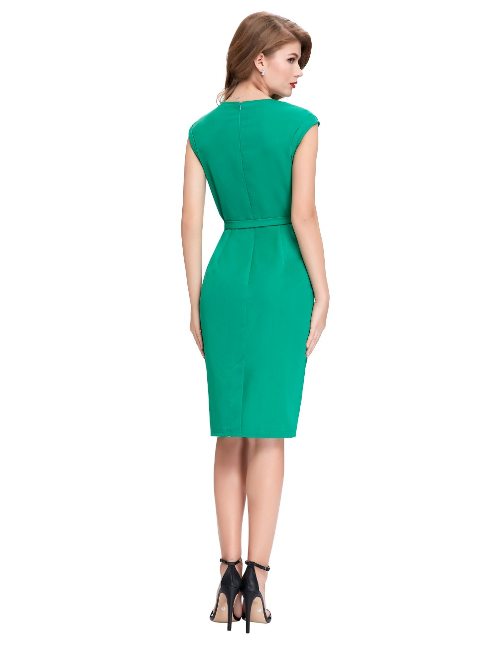 Aliexpress.com : Buy Short Prom Dresses Vintage Green Pencil Dress ...