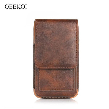 OEEKOI Rhino Pattern PU Leather Belt Clip Holster Pouch Case for Overmax Vertis 4501 You/Vertis 4510 Expi image