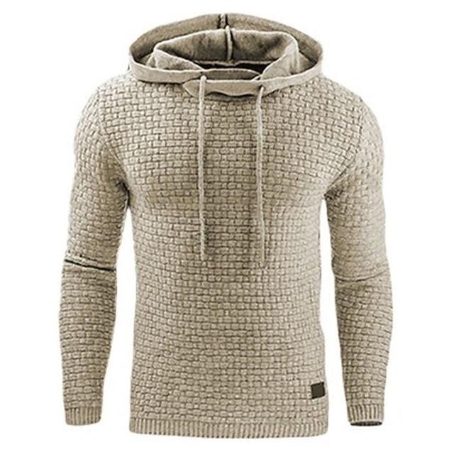 bcc5fadafc2c Hoodies Männer 2018 Marke Männliche Lange Ärmel Einfarbig Mit Kapuze Sweatshirt  Herren Hoodie Trainingsanzug Sweat Mantel