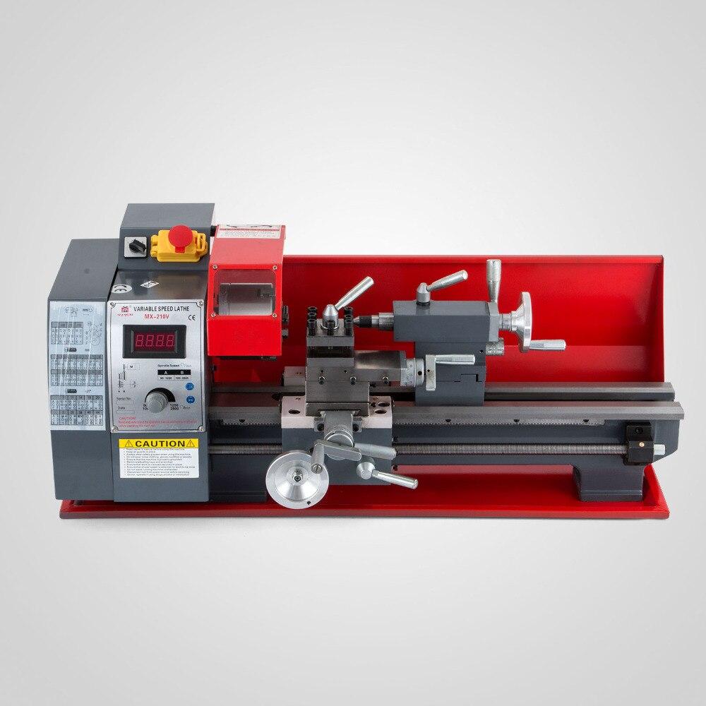 750W 8X16 210 Processing Mini Metal Lathe Variable Speed Lathe Metal Lathe Digital Metal Turning